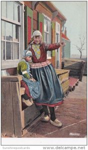 Netherlands Girls From Marken In Traditional Costume Advertising C Schrack &a...