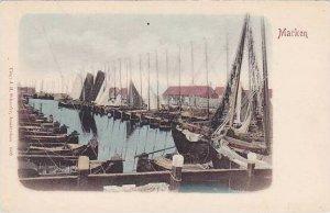 Netherlands Marken Harbor Scene