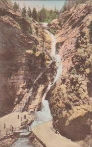Colorado Colorado Springs Seven Falls South Cheyenne Canyon Albertype