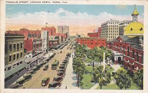 Florida Tampa Trolleys On Franklin Street Looking North 1925