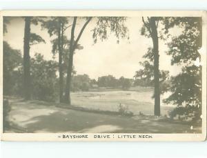 Vintage Post Card RPPC Bayshore Drive Little Neck   # 4337