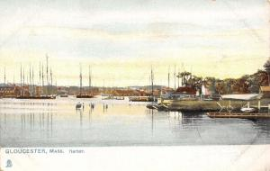 Gloucester Massachusetts~Harbor Scene~1908 Postcard~TUCK
