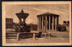 Piazza Bocca della Verita e Tempio Supposto di Vesta,Rome,Italy BIN