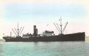 Llanoas Cargo Steamship Tinted Real Photo RPPC Postcard