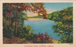 Oklahoma Greetings From Afton 1941