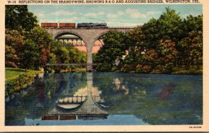 Delaware Wilmington Reflections On The Brandywine Showing B & O and Augustine...
