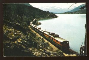 Skagway, Alaska/AK Postcard, White Pass & Yukon Railway/RR, Lake Bennett, 1975!