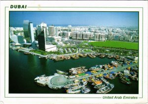 PC CPA U.A.E. , DUBAI, BIRDS EYE VIEW OF DUBAI, REAL PHOTO POSTCARD (b16405)