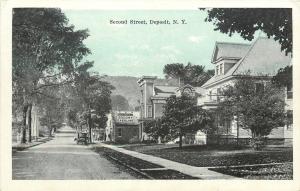 Deposit New York~Second Street Homes~Socony Gasoline Station~Garage~1920s PC