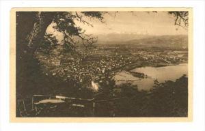 Haggen (470m), Blick auf Bregenz a. B. , Austria, PU-1924