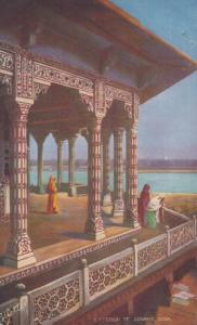 Exterior Of Zenena Jumna Agra Old India Postcard