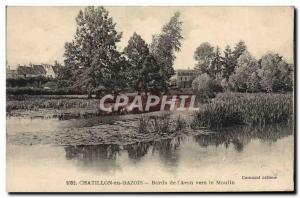 Old Postcard Chatillon en Bazois edges of & # 39Aron To mill