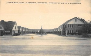 Clarksdale Mississippi birds eye view Cotton Ball Court antique pc BB2975
