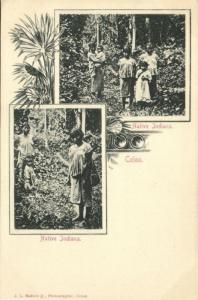 Costa Rica, C.A., COLON, Native Indians (1899) J.L. Maduro Postcard