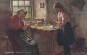 TUCK Scottish Life & Character, 9479, 1900-10s; Grannie's Greatest Comfort