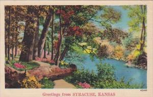 Kansas Greetings From Syracuse 1945