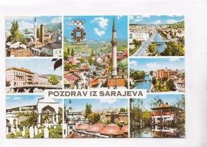 POZDRAV IZ SARAJEVA, Sarajevo, Bosnia and Herzegovina, unused Postcard