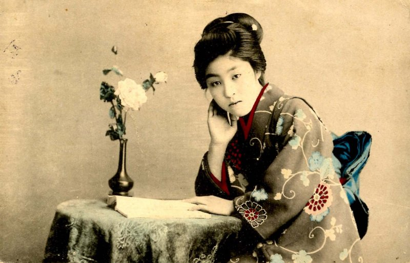 Japan - Lady in Traditional Clothing