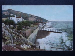 Kent Folkestone VIEW FROM SANDGATE CASTLE c1906 Postcard by The Wrench 12824