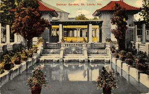 St Louis Missouri~Dalmar Garden Amusement Park~Courtyard Reflecting Pool~1913