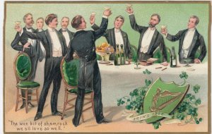 ST. PATRICK'S DAY : Men at table , 00-10s ; TUCK 157