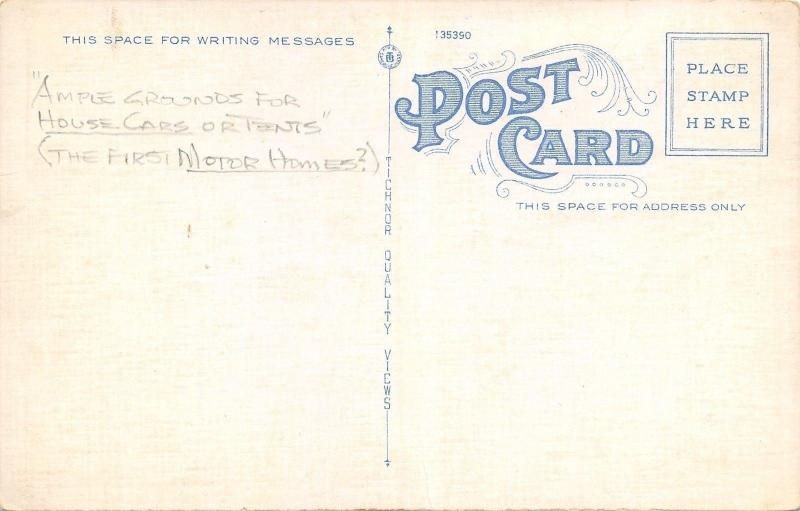 Sumter SC~Pocalla Cottage Camp~Swimming Pool~1940s Art Deco Postcard