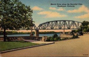 Kentucky Henderson Merritt Drive Along Ohio River Curteich