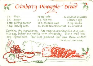 Cranberry Pineapple Bread  Postcard Unused