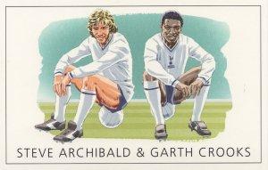 Steve Archibald Garth Crooks Spurs Tottenham FC Painting Postcard