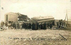 MN, Lamberton, Minnesota, C & NW Wreck #3, Railroad, RPPC