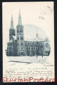 FREIBURG I.B. DIE JOHANNESKIRCHE 1900 ANTIQUE VINTAGE POSTCARD GERMANY