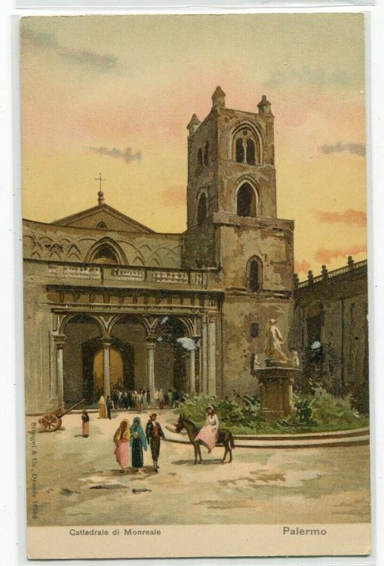 Cathedral Cattedrale di Monreale Palermo Italy 1905c postcard