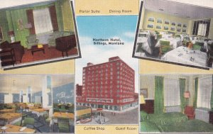 BILLILNGS, Montana, 1930-1940's; Northern Hotel, Parlor Suite, Dining Room, C...