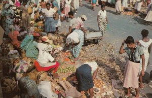 KINGSTON, Jamaica, The West Indies, 1940-60s; Market Scene