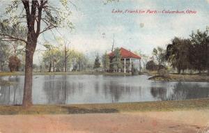 Columbus Ohio~Franklin Park Lake~Pavilion on Lake's Edge~c1910 Postcard