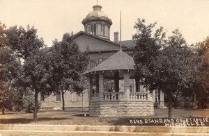 Mitchell South Dakota view of band stand & Court House real photo pc ZD549979