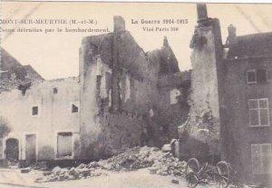 France Mont-Sur-Meurthe sons detruites par le Bombardement