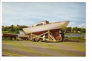 Painting a New Acadian Fiberglass Boat, Industrial Shipping Co Mahone Bay, No...