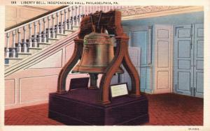 Philadelphia, PA, Liberty Bell, Independence Hall, 1933 Vintage Postcard f3382