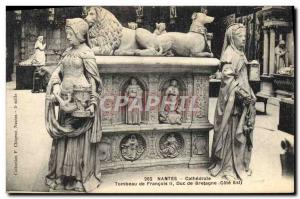 Postcard Old Death Nantes Cathedral Tomb of Francis II Duke of Brittany