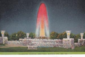 Indiana Michigan City Illuminated Fountain At Ames Field