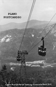 FRANCONIA NOTCH, NEW HAMPSHIIRE,CANON MT. AERIAL TRAMWAY   RPPC REAL PHOTO PC