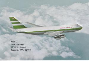 CATHAY PACIFIC Rolls-Royce Powered Boeing 747-200 B Jet Airplane , 70-80s