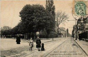 CPA AK St-MANDÉ Carrefour Boulevard Carnot et Avenue Ste-Marie (672456)