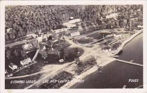 Canada Quebec Lac Des Loups O'Connell Lodge Aerial View 1955