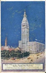Home Office of the Metropolitan Life Insurance Company New York City, USA Pos...