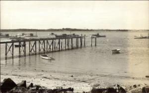 Pine Point ME Anchored Boats c1950s-60s Real Photo Postcard