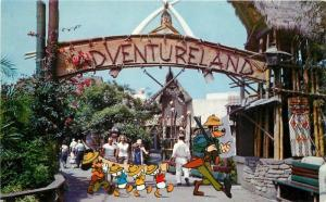 Amusement Disneyland Anaheim California 1950s Postcard Adventureland 11387