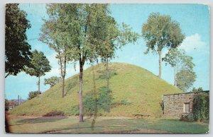 Moundsville West Virginia~Grave Creek Mammoth Mound~Stone Building~1960s PC