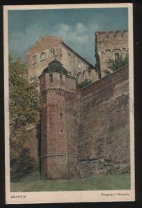 100787 POLAND Krakow Fragment Wawelu Vintage PC